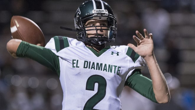 El Diamante High senior Parker Boswell is the Miners' starting quarterback.