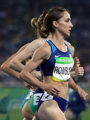 Shannon Rowbury (USA) runs in the women's 1,500 semifinal during the track and field competition in the Rio 2016 Summer Olympic Games at Estadio Olimpico Joao Havelange on Aug. 14.