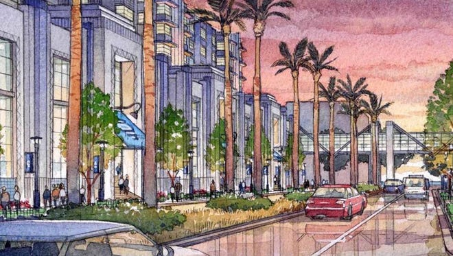 An artist's rendering of the proposed South Beach Resort and Casino in Biloxi.