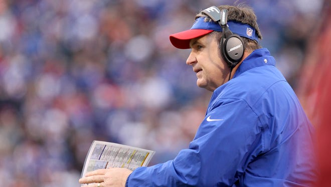 Nov 30, 2014; Orchard Park, NY, USA; Buffalo Bills head coach Doug Marrone stands on the sidelines during the second half against the Cleveland Browns at Ralph Wilson Stadium. The Bills won 26-10.