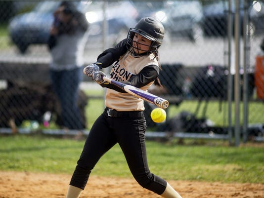 Delone Catholic's Shayna Rider had two hits during the Squirettes' 7-4 victory against York Suburban on Wednesday.