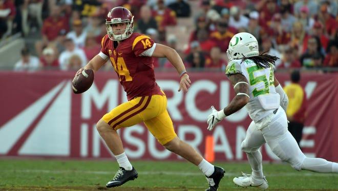 Southern California Trojans quarterback Sam Darnold.