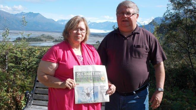 Patti and Chuck Dukowitz in Alaska