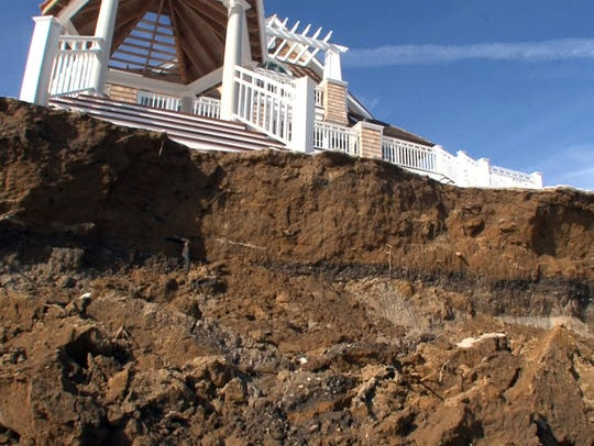 Eroded dunes are shown along the coastline near 5th