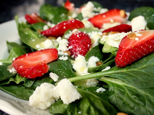 First Lady of the University of Memphis- Lambuth, Michelle Reddick's strawberry spinach salad with sugar curried pecans.
