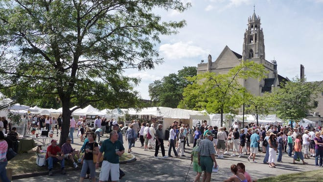 The Memorial Art Gallery's M&T Bank Clothesline Festival returns Sept. 11 and 12 as an in-person event. Last year, because of the coronavirus pandemic, it was held online.