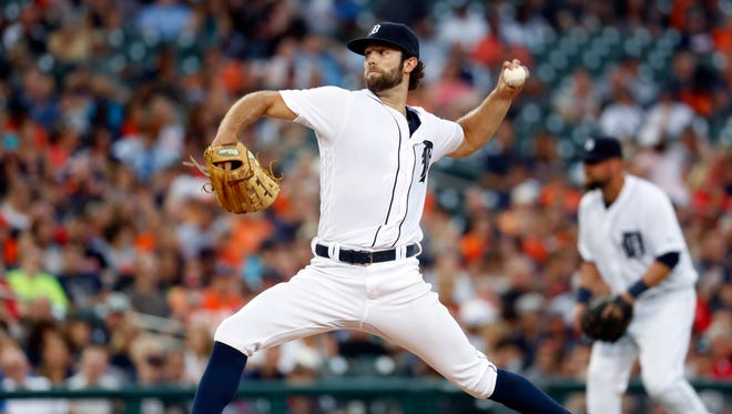 Tigers pitcher Daniel Norris throws against the Royals in the third inning Monday at Comerica Park.