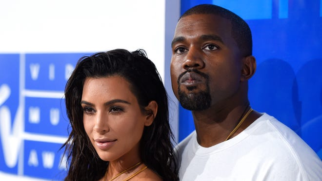 Kim Kardashian and Kanye West in August 2016, in New York.