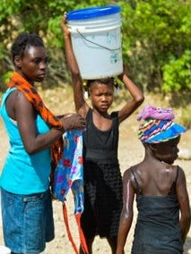 Members of Passion Rescue Mission delivered 3,500 gallons of water to Haiti villagers during a trip to Titanyen on Saturday.