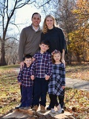 Kristal Tharp-Bechtold, a 2001 Zane Trace High School graduate, currently lives in Grayslake, Illinois with her husband David and three children, Drew (front row, far left), Dawson (middle) and Anna.