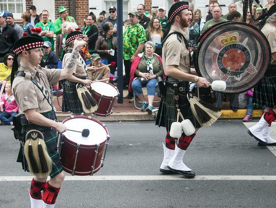 The John F. Nicoll Pipes & Drums participate in the