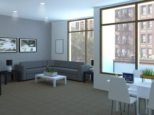 The Fourth + Court building will feature 81 apartments, from studios to two-bedroom units.