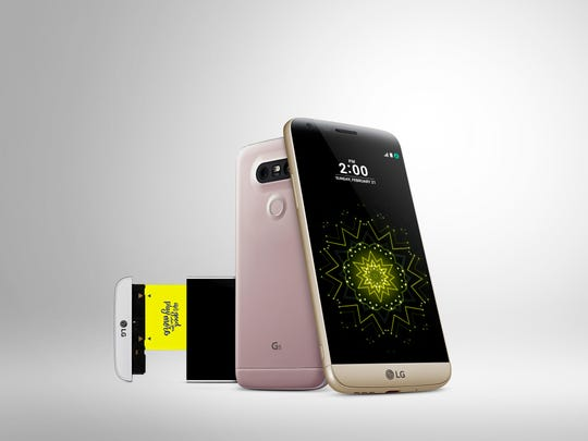 The LG G5 phone features a modular design.