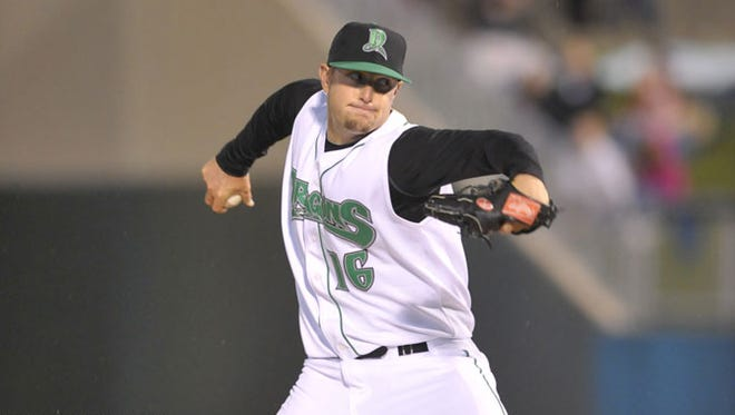 Josh Smith with the Dayton Dragons in 2011.