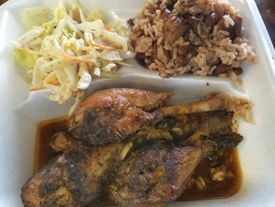 Smiling Flavors Caribbean Jerk's chicken is all leg