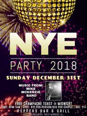 Check out a NYE party at Peppers Bar & Grill.