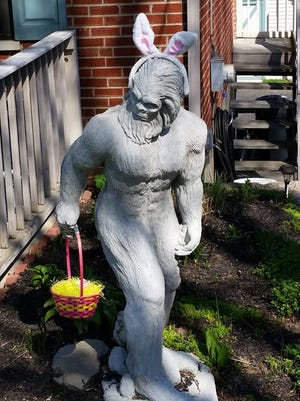 This statue was stolen out of a Delhi Township yard over the weekend.