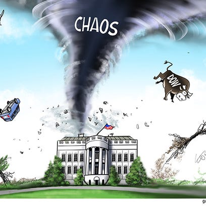 When the President speaks, chaos happens. Trump's recent