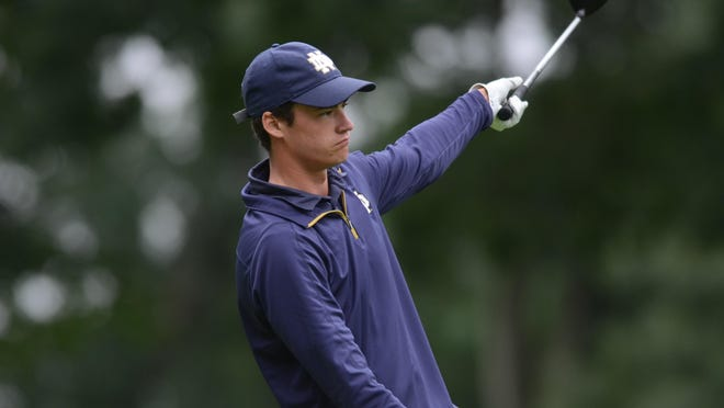 This drive got away from Andrew O'Leary during his semifinal match Friday, but not much else did. The University of Notre Dame golfer kept his composure all day and came away with a 3-and-2 win over Kevin Silva, giving the reigning RIGA State Amateur champ a chance to defend his title.