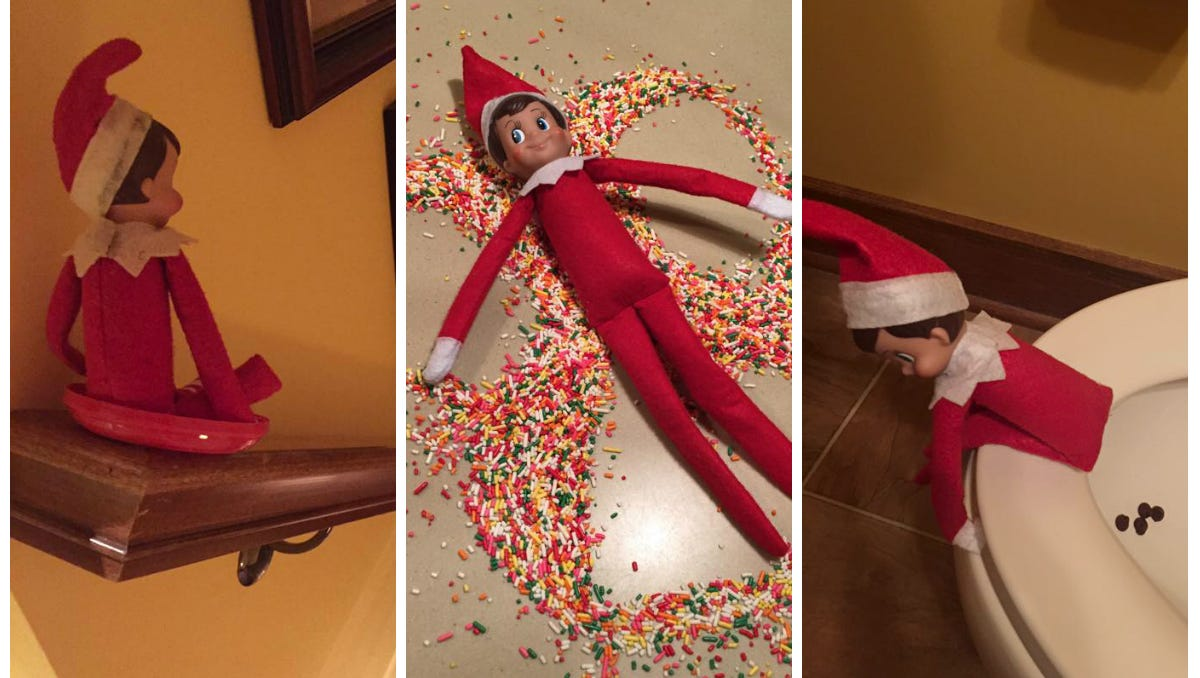 Funny Elf On The Shelf Ideas That Are Also Super Easy