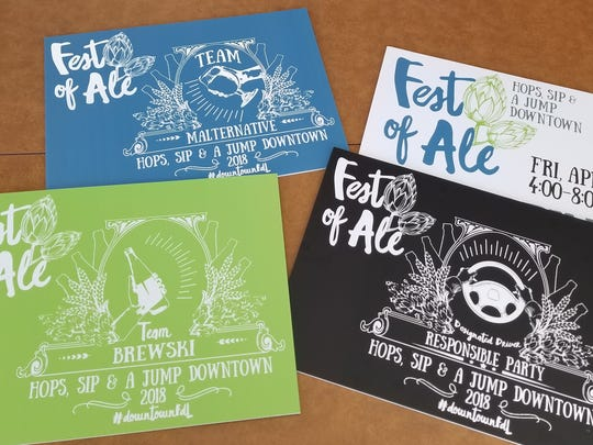 "Ticket types for the Fest-of-Ale include ""Team Brewski,"" ""Team Malternative,"" and ""Responsible Party"" designated drivers."