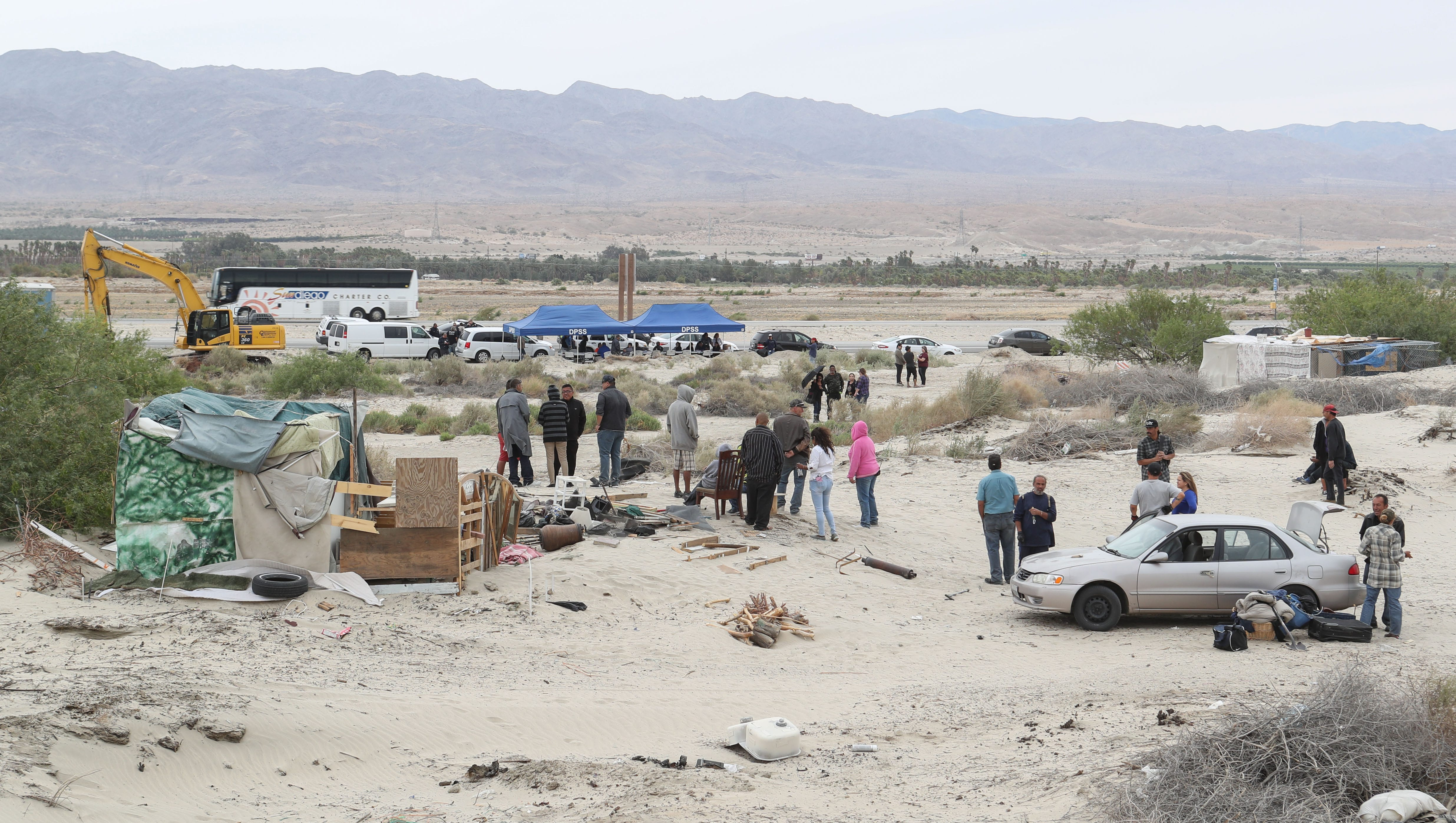 Homelessness in the valley: Caltrans razes Coachella homeless community