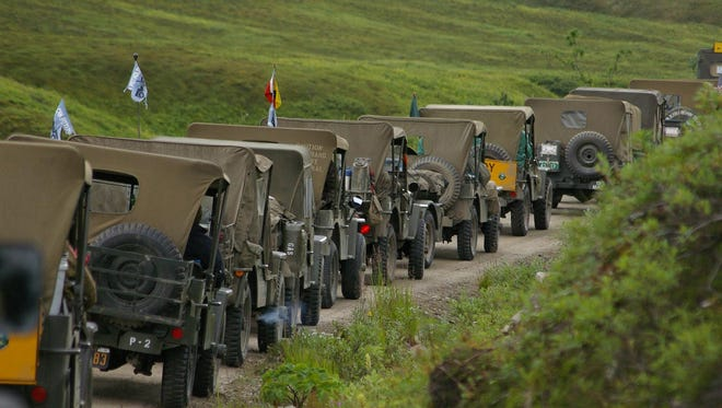 A convoy of historic military vehicles will pass through Lordsburg on Oct. 12.
