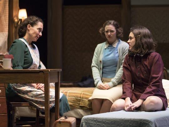 "Naama Potok, Devon Prokopek and Anna Lentz (from left) in Arizona Theatre Company's ""The Diary of Anne Frank."""