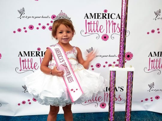St. Cloud resident Lydia Mohs, who turns 3 on Aug. 10, captured the national title of America's Toddler Miss at the America's Little Miss pageant July 26-29 in Orlando, Florida. She also won awards for the prettiest eyes and best modeling portfolio.