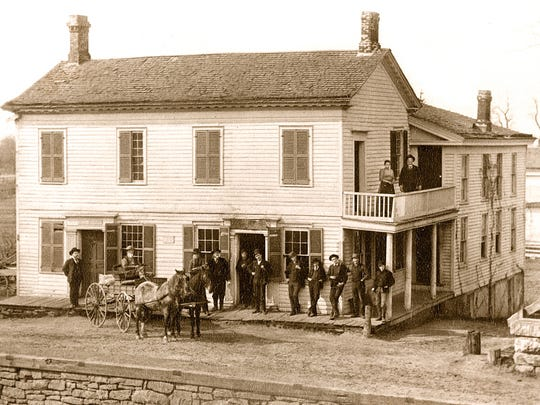 The building now known as the Adams-Ryan house, seen in this circa 1875 photograph, was a fixture of the Adams Basin community for much of the 19th century.