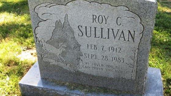 Roy Sullivan's grave in Augusta County.