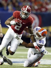 Alabama's Derrick Henry has rushed a combined 90 times
