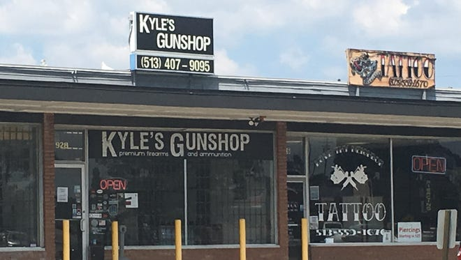 Kyle's Gunshop owner Kyle Hufford stands behind statements he made to an irate customer.