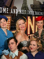 "Erin Johnson (Franklin), Kendall Doman (Bloomfield Hills), Sarah Kwas (Berkley), Kyle Patrick (Ferndale), and Brynn Ward (Royal Oak) rehearse for ""42nd Street"" at St. Dunstan's Theatre in Bloomfield Hills."