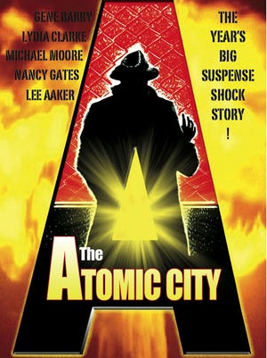 """The Atomic City"" (1952), starring Gene Barry, filmed in Los Alamos, Puye Cliff dwellings"