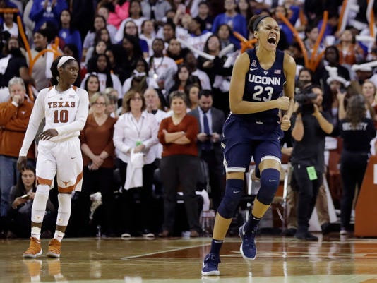AP UCONN TEXAS BASKETBALL S BKC T25 USA TX