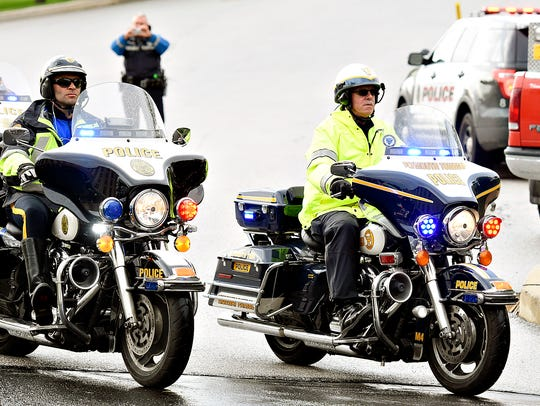 Riders in the Law Enforcement United Road to Hope Memorial