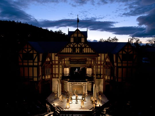 Open to the sky, the Oregon Shakespeare Festival's