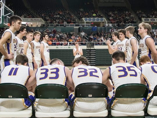 Unioto's starting five, (from left to right) Brandon