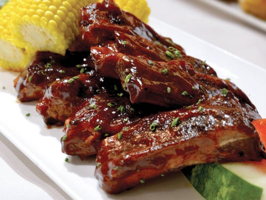 The barbecue pork ribs at the Eagles Buffet at Casino