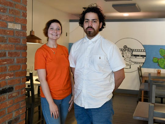 Co-owners Anisa Diaczun, and Brando Diaz at Paco's Tacos, a Mexican-styled eatery featuring unique taco creations,  Sunday, June 10, 2018. John A. Pavoncello
