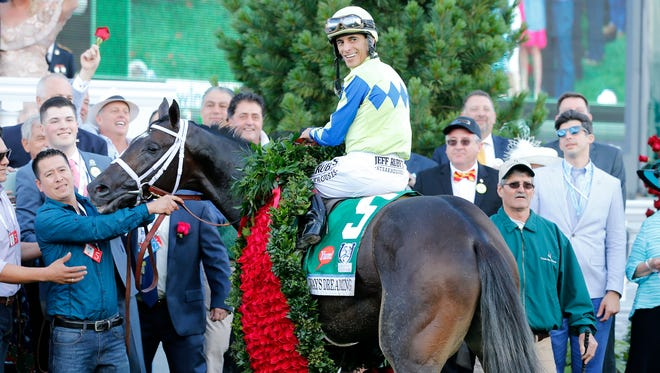 Always Dreaming wins the 143rd running of the Kentucky Derby Saturday at Churchill Downs in Louisville, Kentucky.