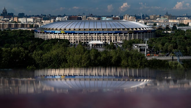 A view of the Luzhniki Stadium in Moscow.