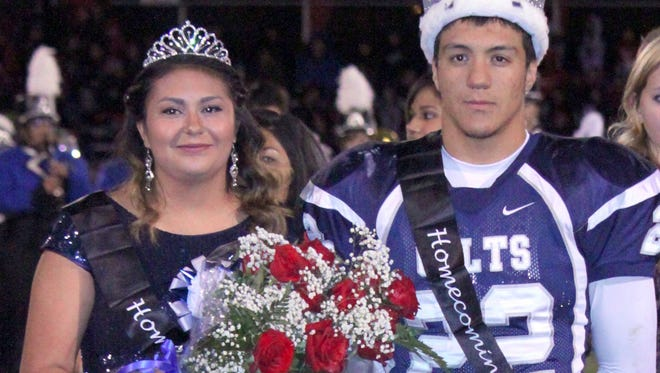 Silver High School seniors Harley Lewis and Mariah Montoya were crowned as Homecoming king and queen on Friday at a halftime ceremony. The Colts fell to Cobre High, 20-13. For more on the game, see Page 12A.
