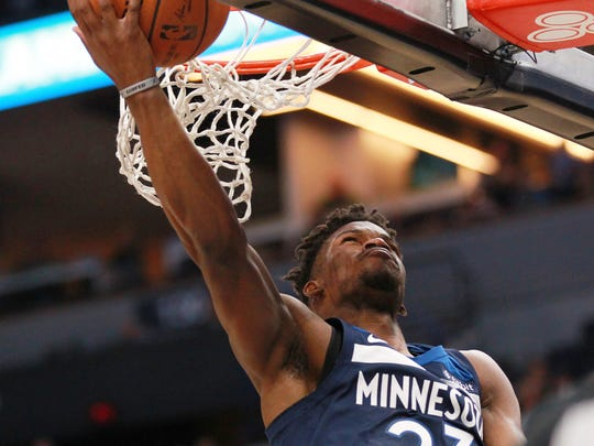 Minnesota Timberwolves guard forward Jimmy Butler (23)