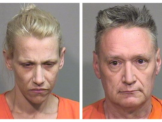 """JoAnn Cunningham, left, and Andrew Freund Sr. have been charged in the murder of their five year-old son, Andrew """"AJ"""" Freund."""