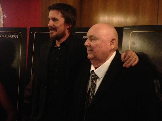 Oscar winner Christian Bale, left, and Mel Weinberg