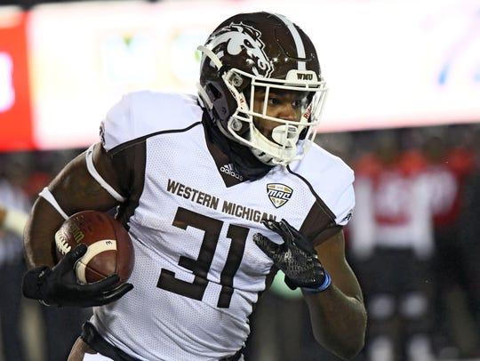 Western Michigan Broncos running back Jarvion Franklin