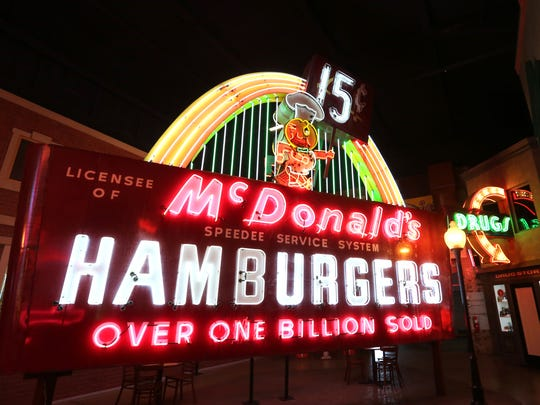McDonald's Speedee sign.