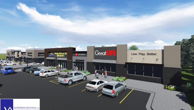 A rendering of Roosevelt Marketplace, a new development on Sertoma Avenue near 41st Street and across from Roosevelt High School.